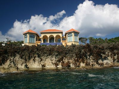 Incredible view of the house from the Ocean!!