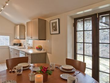 Kitchen and casual dining area