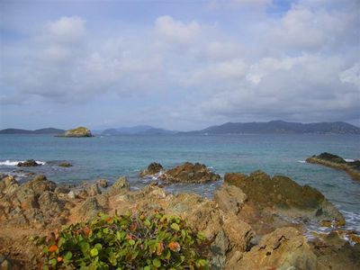 Pretty Klip Point forms one arm of St. John Bay better knows as Sapphire Bay