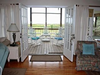 Isle of Palms house photo - HUGE 2nd floor living room opens to ocean front deck