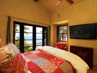 Malibu house photo - Guest room #4, french doors open to ocean.