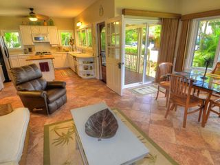 Poipu house photo - Open floor plan, lazy boy recliner, and pull out comfy couch.