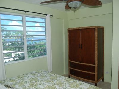 Great ocean views and breezes from the master bedroom