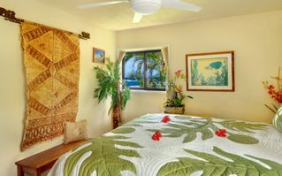 Poipu condo photo - OCEAN VIEW 2ND MASTER SUITE WITH KING BED WITH ATTACHED FULL BATHROOM AND CLOSET
