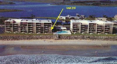 Unit 215 in Left Building next to the pool