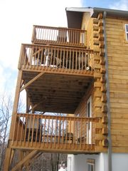 Blakeslee house photo - Four story decks!