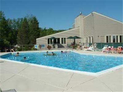 Heated Hideaway Valley pool is open for the summer months.