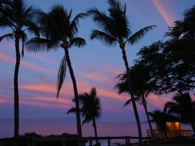 Kihei condo rental - Beautiful sunsets at Maui Parkshore.