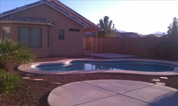 Laveen house rental - View of pool and Estrella Mountains