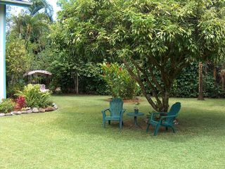 Hanalei house photo - Backyard lounging and relaxing
