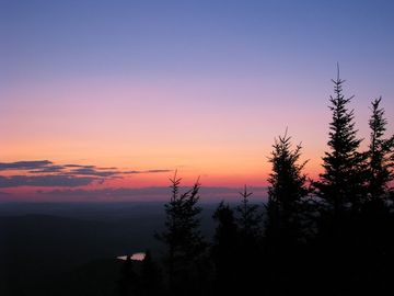 Sunset from the summit of one of our/our guests favorite climbs.