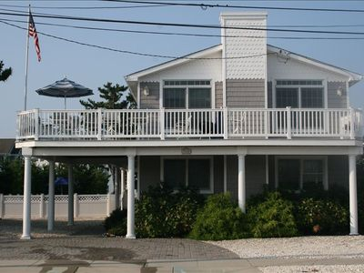 Front view of our house with wrap around deck