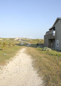 Port Aransas house rental - private boardwalk next to the house