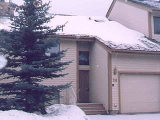 Park City townhome photo - Front View Garage w Large Driveway for 2 Cars