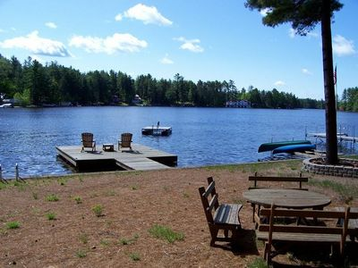 Brantingham Lake is a Private Lake. Swim from your own beach.