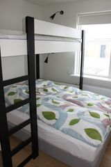Northwest Iceland apartment photo - Bedroom - single bunkbed and a double bed