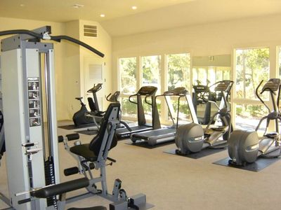 Complete workout center, only complex in Palmetto Dunes is Villamare.