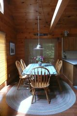 Wolfeboro cabin photo - Dining area off kitchen