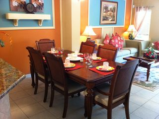 Dining area, seating is available for 8 people