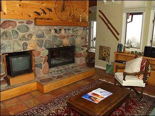 Snowmass Village townhome photo - Wood Burning Fireplace in Family Room