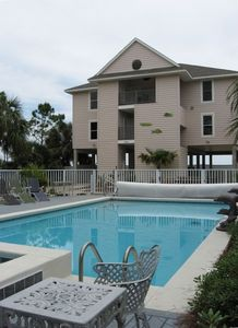 18'x36' private pool with grilling, screened decks, lanai, jacuzzi and sauna.