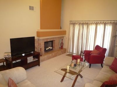 Fireplace and entertainment center in Living room