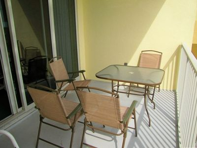 Enjoy coffee or a meal on the private balcony!