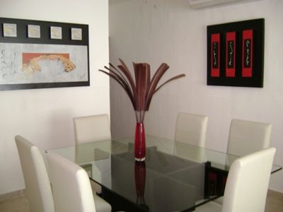 Playa del Carmen apartment rental - table for 6