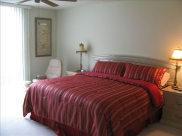 Complete View of King Bed in Master Bedroom