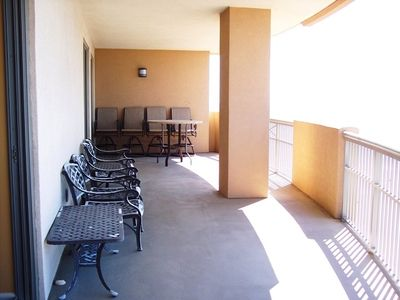 Kingston Plantation condo rental - The large balcony wraps around 2 sides of the condo with great ocean views