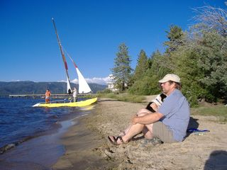 Al Tahoe chalet photo - Come enjoy a summer's day at the locals beach 4 Blocks Away!