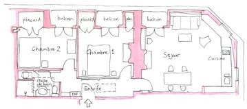 Sketch plan of apartment