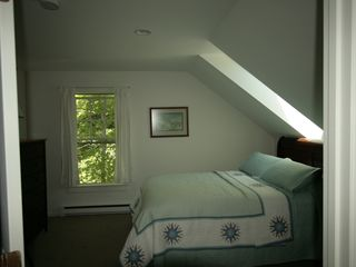 Blue Hill apartment photo - Skylight over bed has a remote controlled window and shade.