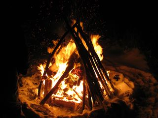 Craftsbury house photo - Bonfire