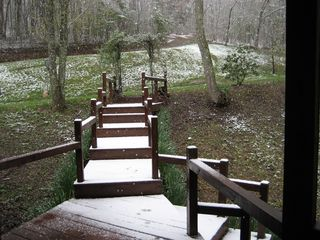 Blue Ridge lodge photo - The path to discovery..private trails and Meadow Creek.