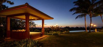 Sunset Pavilion with ocean, pool and fairway views