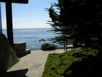 View from the side yard & steps down to the sea
