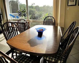 Sanibel Island condo photo - Dining area seats 6 with great views and lighting
