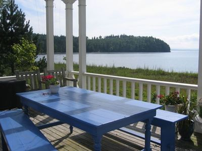 Porch with western view of the Penobscot Bay