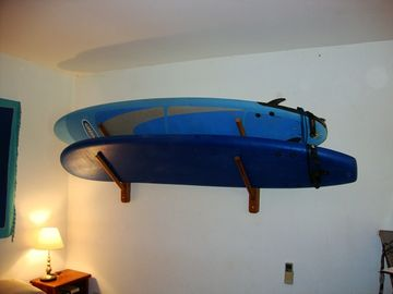 We leave you with two soft-top 9 foot longboards. Or you can rent nearby.