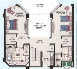Silver Beach Towers Resort condo photo - Second Floor Layout