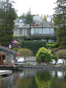 View of the house from our dock on Portage Bay.