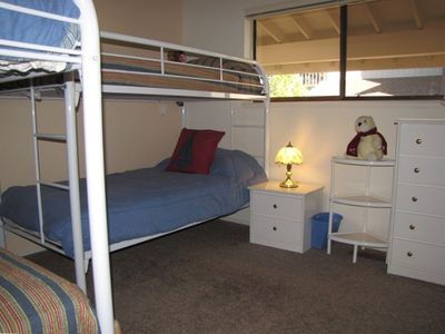 Bunk room - great for kids, on separate hallway (keeps downstairs master quiet)