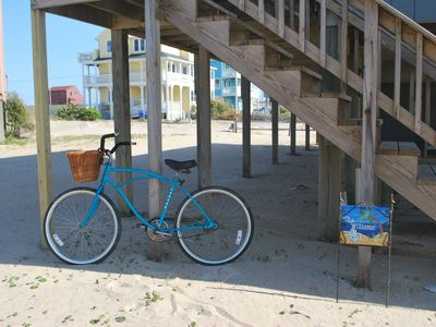 Just one of our beach cruisers to ride