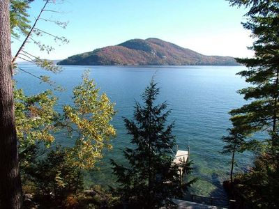 Private Lake George Waterfront - Spacious Log Home - Dock