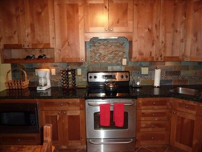 Granite/slate kitchen with new appliances