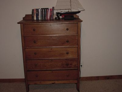 Antique set of drawers in fourth bedroom.
