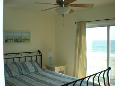 Salisbury Beach townhome rental - Master Bedroom with Balcony
