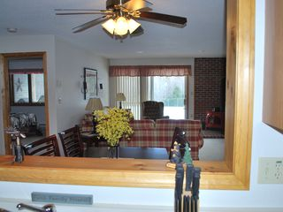 North Conway condo photo - Open concept kitchen to living room