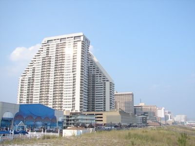 Atlantic City condo rental - Ocean club towers (side view)